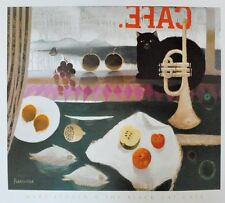 Mary Fedden The black cat Cafe Poster Bild Kunstdruck 56x65,5cm - Portofrei