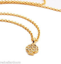 """Auth New KATE SPADE New York Crystal Pave Spade Pendant Charm Necklace 17"""" 12k"""