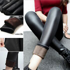 Winter Warm Thick Velvet Matte Pencil Pants Sexy Womens Shaping Leather Leggings