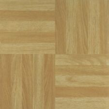 """NEXUS Four Finger Square Parquet 12"""" x 12"""" Self Adhesive Vinyl Floor Tile 204"""