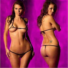 Micro Swimwear Sexy Exotic Bikini Thong Women's Brazilian G-string Dancewear Set