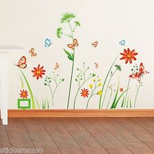 FLOWERS DANDELION SET PLAYROOM WALL ART DECO STYLE STICKERS HOME ROOM DECORATION