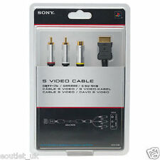 Official Sony Playstation TV/AV S-Video Cable/Lead for PS1 PS2 PS3 2 3 Gold NEW