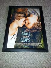 "THE FAULT IN OUR STARS PP SIGNED & FRAMED POSTER 12""X8"" SHAILENE WOODLEY"
