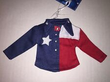 Christmas Hanging Ornament Western Shirt Red White Blue Texas Flag Lone Star