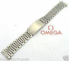 Omega pulsera en acero inoxidable-Ref. 1037-22 - 1970er - 17,5 mm Constellation seam.