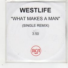 (FW618) Westlife, What Makes A Man - DJ CD