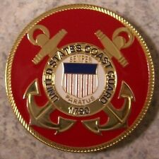 Car Grill Badge Military U S Coast Guard NEW metal including mounting hardware