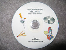 Woodworking Projects CD Thousands of Plans in Windows PDF Printable Format
