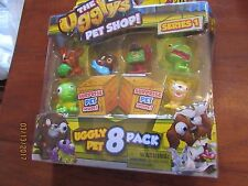 New The Ugglys Pet Shop 8 Pack critters Series 1 Rep-Vile French Bulldog poop