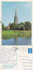 1990's SALISBURY CATHEDRAL FROM THE AVON SALISBURY WILTSHIRE COLOUR POSTCARD