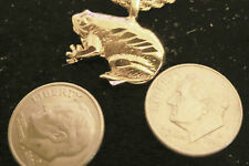 bling gold plated pond bull frog pendant charm rope chain hip hop necklace