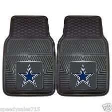 PAIR FANMATS NFL Dallas Cowboys Front Heavy Duty Car Mats New Free Shipping