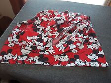 MICKEY MOUSE Twin Fitted Bed Sheet Red Disney
