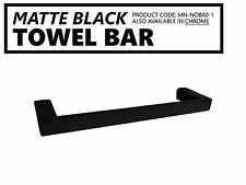 Small 330mm MATTE BLACK Square Single Towel Bar Rail Holder Bathroom Accessories