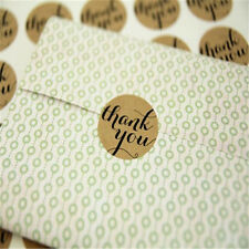 "120Pcs 3.5X3.5CM  ""Thank You"" Packaging Seals Kraft Sticker Label Gift Box Decor"