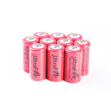 10 x 16340 3.7v 1200mah Ultrafire Recharge Protection Circuit Li-ion Battery AU