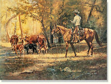 """*** """"RIDING THE HERD"""" LIMITED EDITION PRINT BY TIM COX***"""