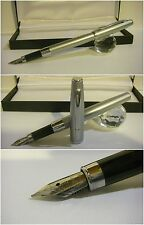 Stilografica Pirre Paul's Fountain Pen Satin Chrome - Nib Steel siz. M