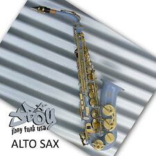 Air Force Grey Alto Sax  • New Funky JBOY Eb Saxophone • Case and Accessories •