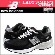 NEW New Balance Women's W990BK3 Running Shoe Made In USA Leather Black Size 6 2E