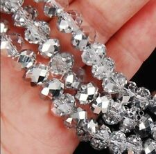 AAA++L 147pcs 3x4mm silvery Crystal Faceted Loose Beads AAAR