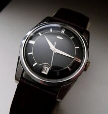 VINTAGE SWISS FORTIS 21 JEWEL ALL STAINLESS STEEL MANUAL WIND GENTS WATCH 1960S