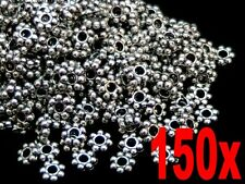 150  Pcs Tibetan Silver 4mm Daisy Spacer Beads Bead Jewellery Findings G143