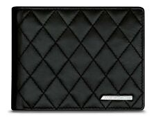 Genuine Mercedes-Benz Black AMG Mens Lambskin Wallet B66959992 NEW