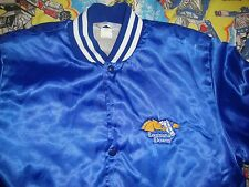 Vintage Louisiana Downs Horse Racing Blue Satin Jacket Adult Size M