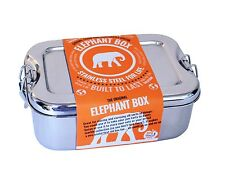 The Original Elephant Box-Stainless Steel Lunchbox. BPA Free, Eco and Durable