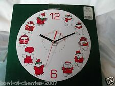 """Santabear"" 10th Year Commemorative Ceramic Wall Clock-Quartz Movement, 1985-94"