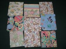 9 Vtg 90s Mixed Easter Decor Cotton Fabric Samples Up To Fat Quarter Size#me309