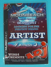 MOONBEACH, VIII., Indoor Festival, Artist Backstage Pass, laminiert, Werk4