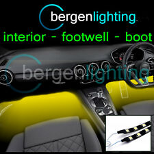 2X 375MM YELLOW INTERIOR UNDER DASH/SEAT 12V SMD5050 DRL MOOD LIGHTING STRIPS