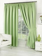 """Thermal Blackout Blockout Pencil Pleat Tape Top Door Curtain 66"""" x 84""""+ TIE BACK"""