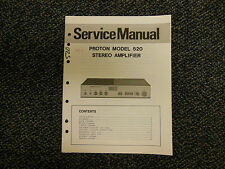 Proton 520 Stereo Amplifier Service Manual Original OEM