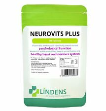 Neurovits Plus Vitamin B1, B6, B12, Folic Acid 90 Tablets Lindens Vegan UK Made