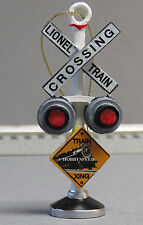 LIONEL TRAIN CROSSING ORNAMENT resin train christmas tree decoration rr 9-22040