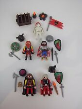PLAYMOBIL Viking Barbarian Invader Figures weapons armor lot of 5 guys play P10