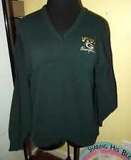 Mens ~ GREEN BAY PACKERS UNIQUE size M L CABLE KNIT SWEATER super bowl XXXI