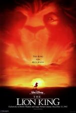 "THE LION KING Movie Poster [Licensed-NEW-USA] 27x40"" Theater Size DISNEY (B)"