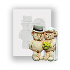Silicone Mould - Bride And Groom - Flat Backed Mini Sculpture - Food Safe