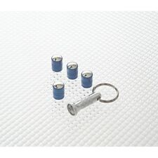 Richbrook Blue Spinning Car Valve Caps - Anti Theft - Set Of 4 - Free Post