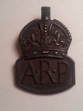 Cartier of London Solid Silver 1938 Mens ARP Air Raid Precautions Lapel Badge