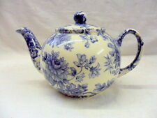 Light blue imari chintz design 2 cup teapot by Heron Cross Pottery