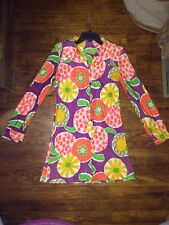 Womens Vintage Gogo Dress Shift Shirt Dress Size Small