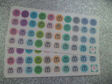 78 Present/Gift Icon Planner/Diary/Scrapbooking Stickers - On Glossy Paper