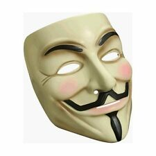 Official Licensed V for Vendetta Mask Halloween Costume Accessory Guy Fawkes New