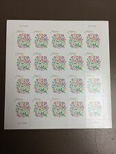Love  forever postage stamps sheet of 20 always valid for first class mail